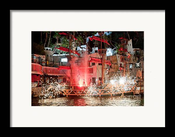 Las Vegas Framed Print featuring the photograph Treasure Island Pirates by Andy Smy
