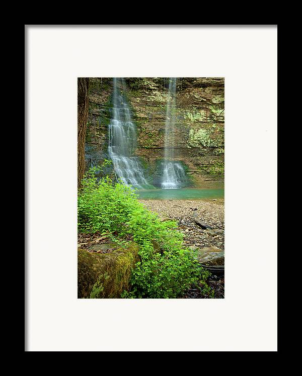 Landscape Framed Print featuring the photograph Tripple Falls In Springtime by Iris Greenwell