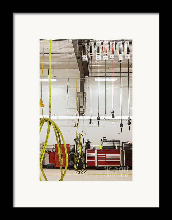 Auto Framed Print featuring the photograph Truck Repair Shop by Don Mason