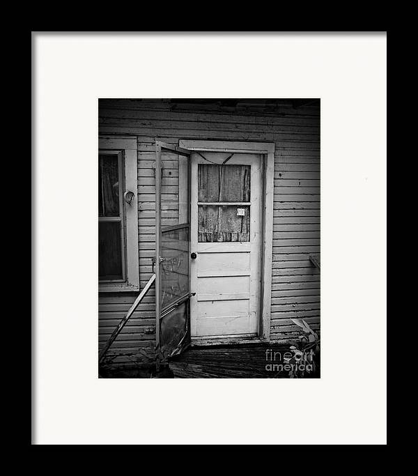 Door Framed Print featuring the photograph Tuff Times 2 by Perry Webster