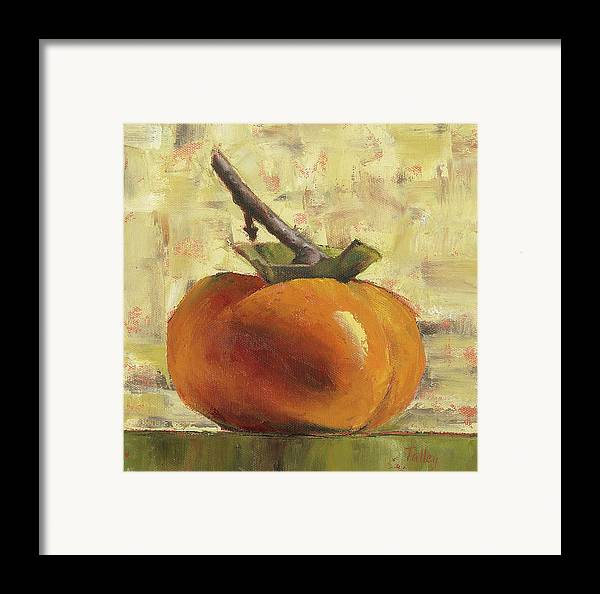 Persimmon Framed Print featuring the painting Tuscan Persimmon by Pam Talley
