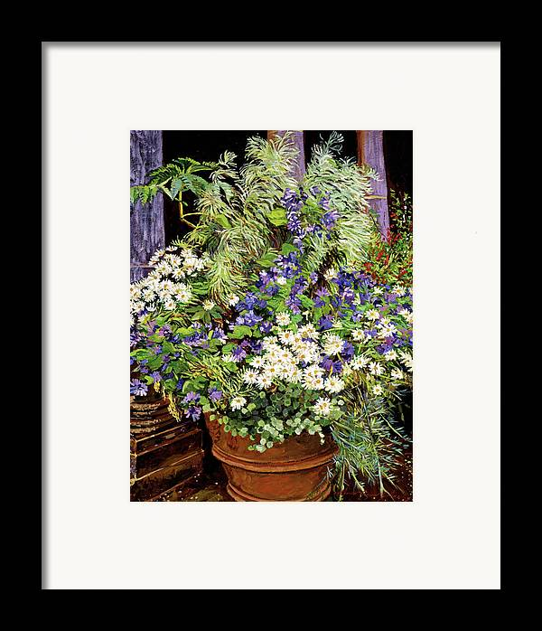 Tuscany Framed Print featuring the painting Tuscany Still Life Study by David Lloyd Glover