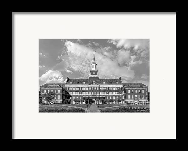 American Framed Print featuring the photograph University Of Cincinnati Mc Micken Hall by University Icons
