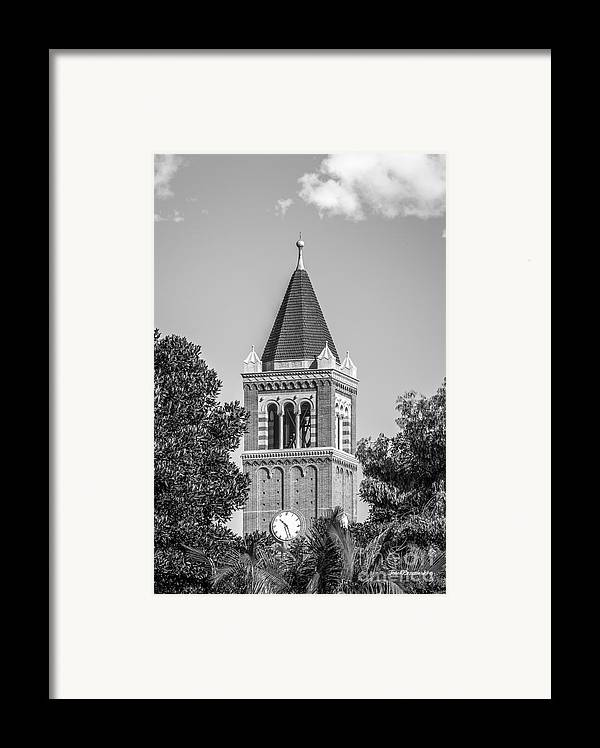 Aau Framed Print featuring the photograph University Of Southern California Clock Tower by University Icons