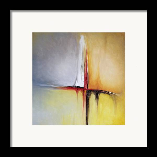 Abstract Framed Print featuring the painting Untitled by Mike Irwin