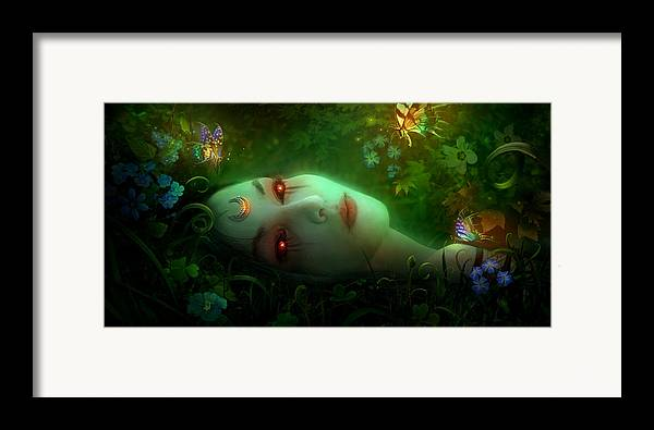 Philip Straub Framed Print featuring the painting Utherworlds Aadyasha by Philip Straub