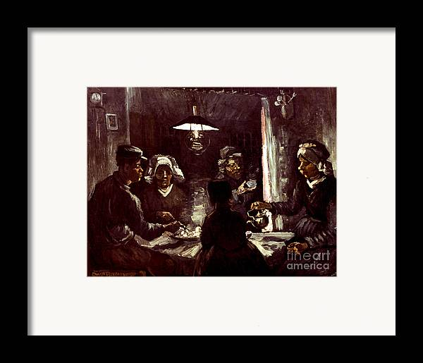 1885 Framed Print featuring the photograph Van Gogh: Meal, 1885 by Granger