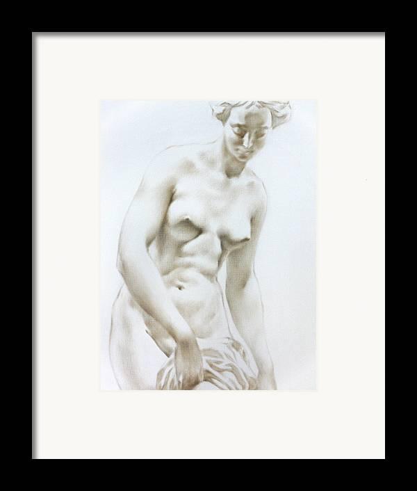 Woman Framed Print featuring the painting Venus1b by Valeriy Mavlo