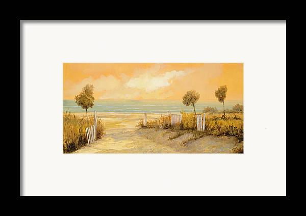 Beach Framed Print featuring the painting Verso La Spiaggia by Guido Borelli