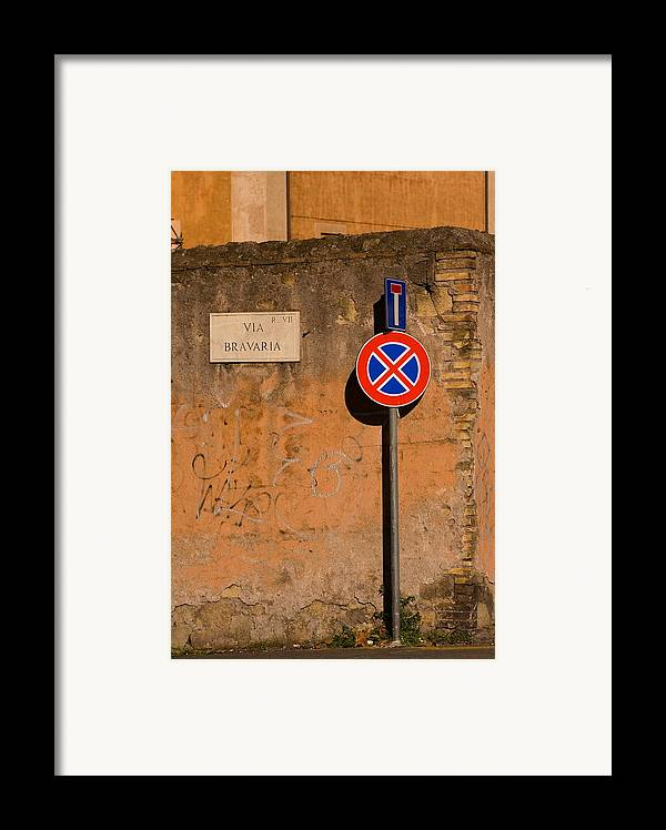 Rome Framed Print featuring the photograph Via Bravaria by Art Ferrier