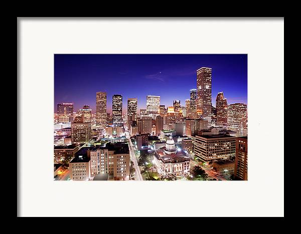 Horizontal Framed Print featuring the photograph View Of Cityscape by jld3 Photography