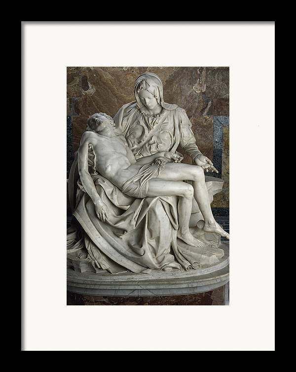 Europe Framed Print featuring the photograph View Of Michelangelos Famous Sculpture by James L. Stanfield