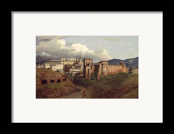 View Framed Print featuring the painting View Of Saint John Lateran Rome by Joseph Desire Court