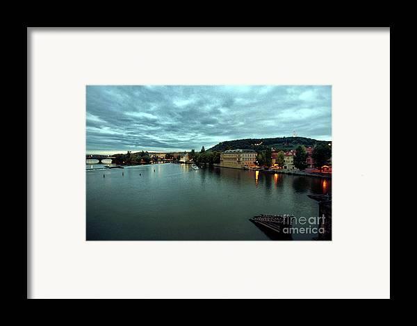 Vltava Framed Print featuring the photograph Vltava View 2 by Madeline Ellis