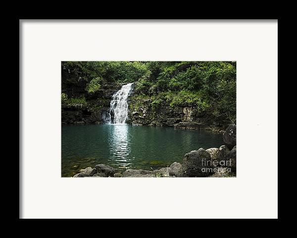 Falls Framed Print featuring the photograph Waimea Falls by Charmian Vistaunet
