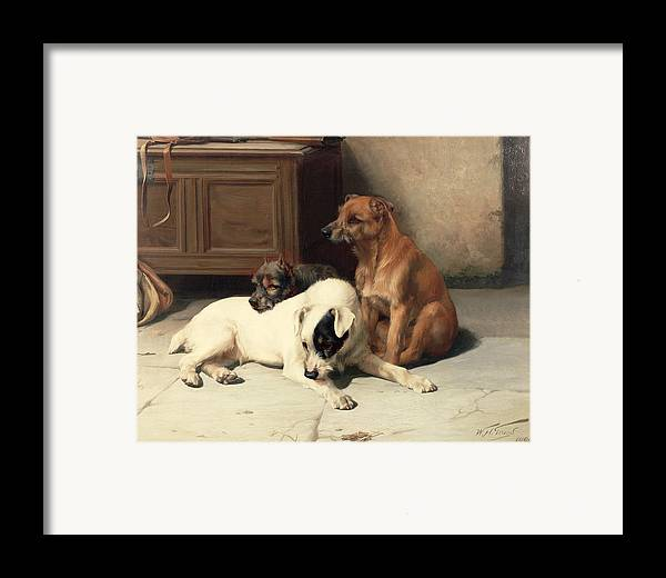 Waiting For Master Framed Print featuring the painting Waiting For Master by William Henry Hamilton Trood