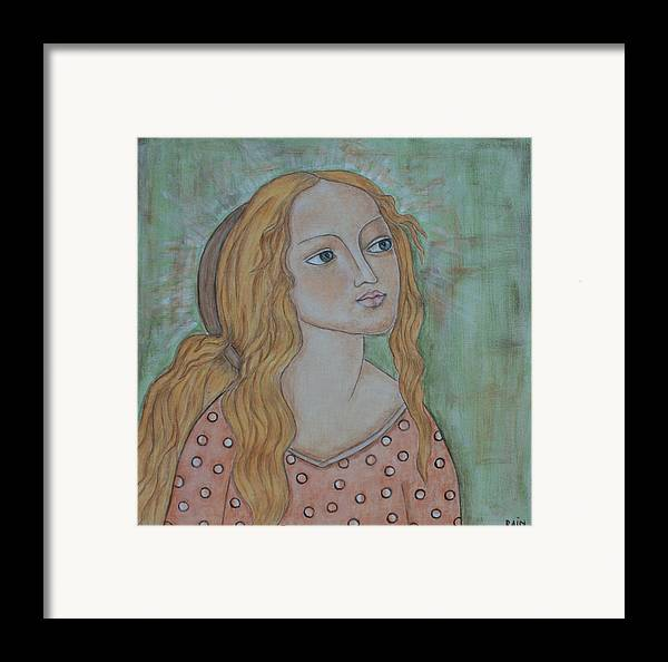 Paintings Framed Print featuring the painting Waiting by Rain Ririn