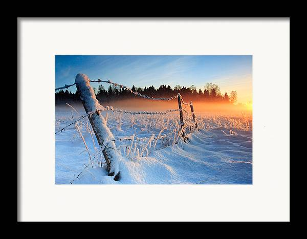Winter Framed Print featuring the photograph Warm Cold Winter Sunset by Romeo Koitmae