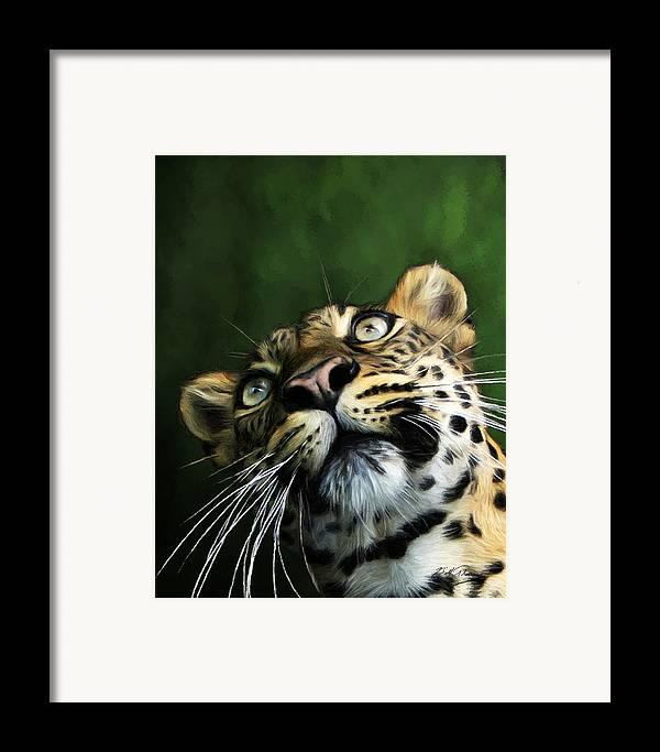 Wildlife Art Framed Print featuring the digital art Watch The Birdie by Bill Fleming