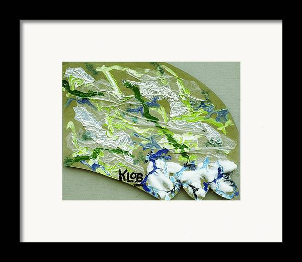 Ocean Framed Print featuring the painting Wave by Kevin OBrien