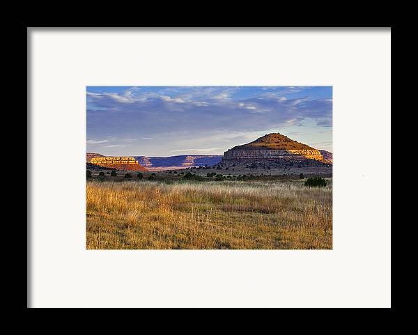Black Mesa Framed Print featuring the photograph Wedding Cake Ranch by Charles Warren