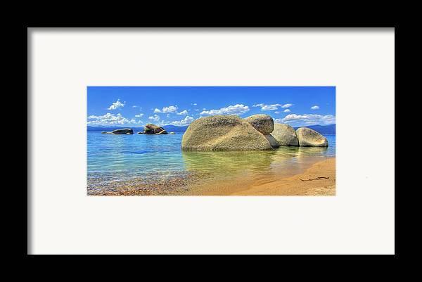 Whale Beach Framed Print featuring the photograph Whale Beach Lake Tahoe by Brad Scott