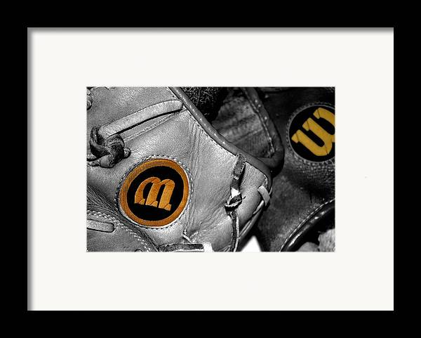 Baseball Framed Print featuring the photograph Wilson 2 by Jame Hayes