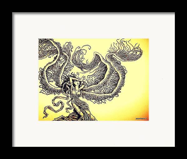 Wind Framed Print featuring the digital art Wind by Paulo Zerbato