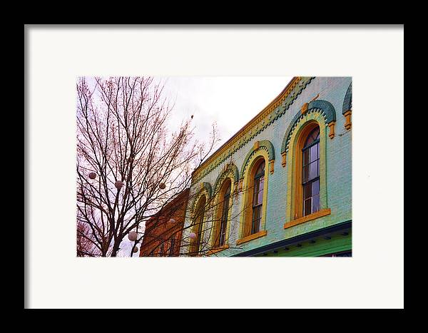 Architectural Framed Print featuring the photograph Windows Of Color by Jan Amiss Photography