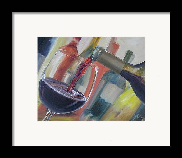 Wine Framed Print featuring the painting Wine Pour by Donna Tuten