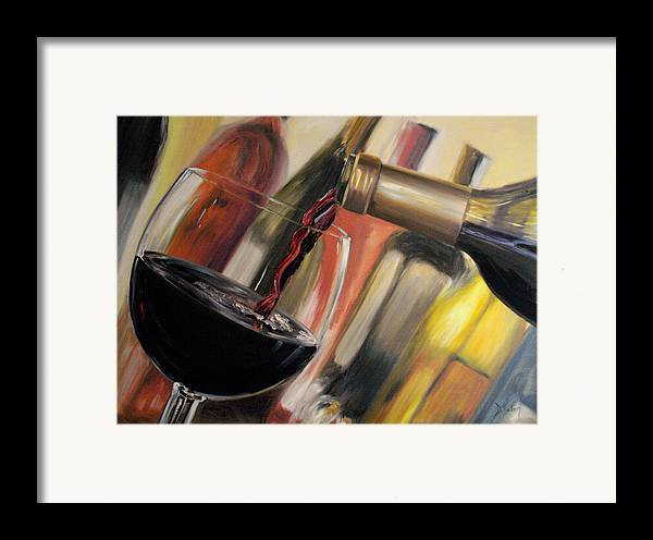 Wine Framed Print featuring the painting Wine Pour II by Donna Tuten