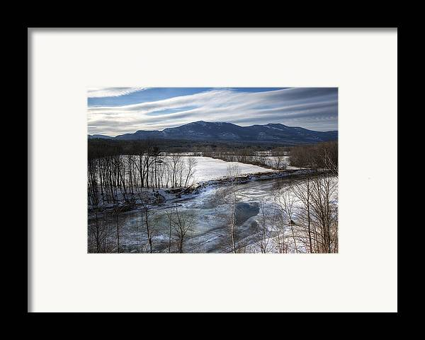 North Conway Framed Print featuring the photograph Winter In North Conway by Eric Gendron
