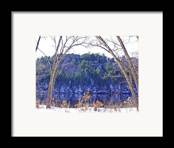 Rivers Framed Print featuring the photograph Wisconsin River 3 by Dave Dresser