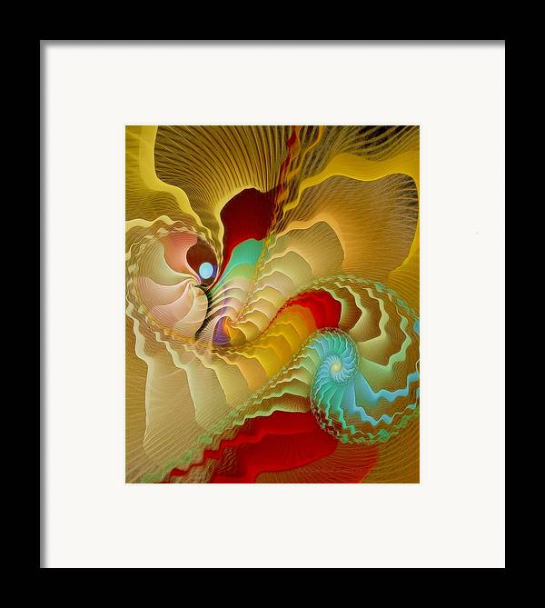 Fractal Framed Print featuring the digital art With A Gentle Breath by Gayle Odsather