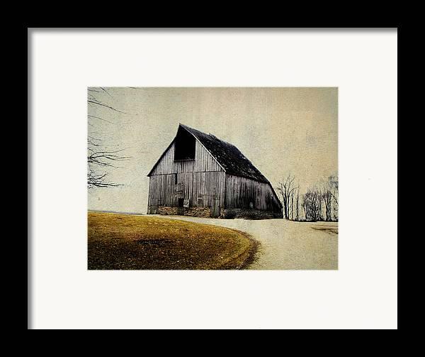 Barn Framed Print featuring the digital art Work Wanted by Julie Hamilton