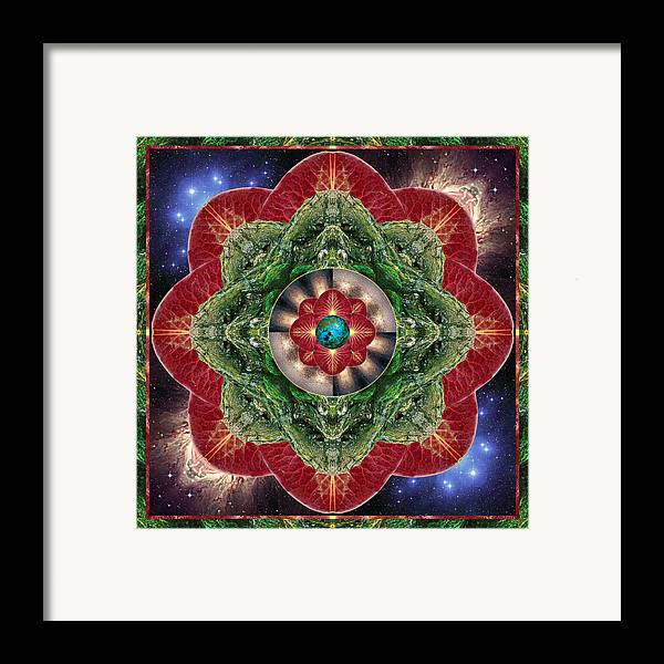 Yoga Framed Print featuring the photograph World-healer by Bell And Todd
