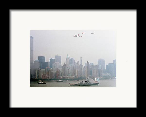 New Framed Print featuring the photograph World Trade Center And Opsail 2000 July 4th Uscg Photo 17 by Sean Gautreaux