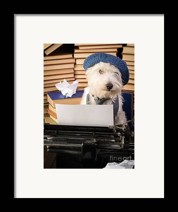 Dog Framed Print featuring the photograph Writer's Block by Edward Fielding