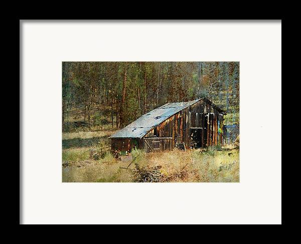 Barn Framed Print featuring the photograph Yesteryear Shed 2 by Dale Stillman