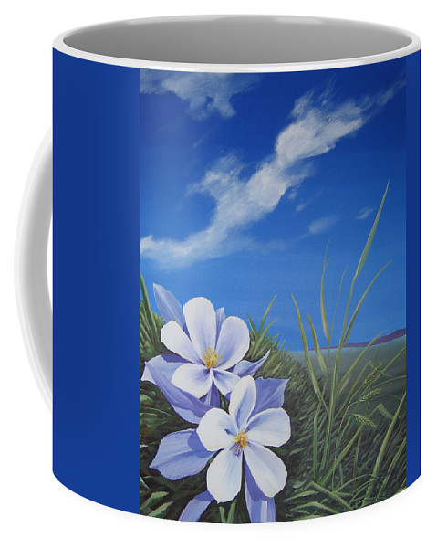 Landscape Coffee Mug featuring the painting Afternoon High by Hunter Jay