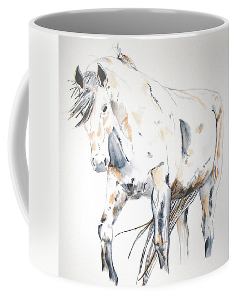 Horse Coffee Mug featuring the painting Beauty by Crystal Hubbard