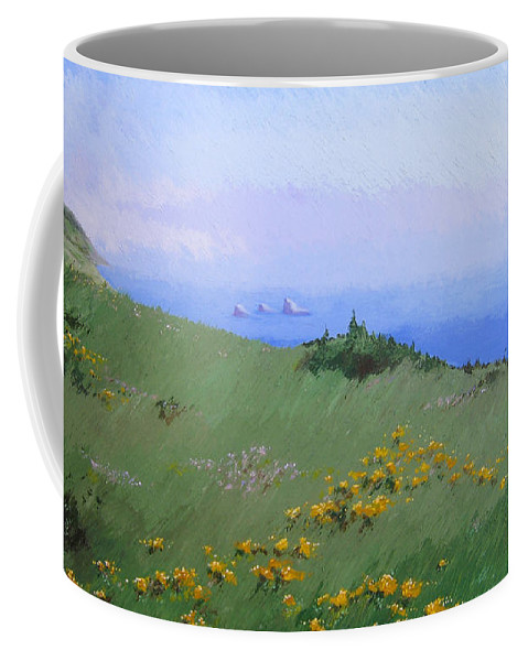 Landscape Coffee Mug featuring the painting Big Sur by Hunter Jay
