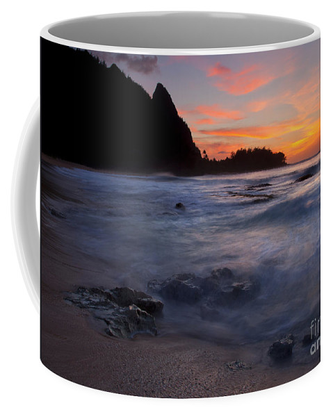 Tunnels Beach Coffee Mug featuring the photograph Consumed by Mike Dawson