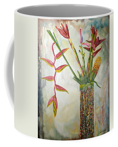 Gingerroot Coffee Mug featuring the painting Ginger Root by John Keaton