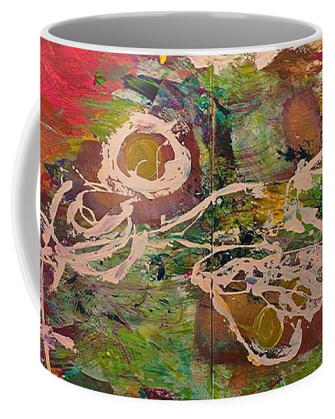 Landscape Coffee Mug featuring the painting Journey Forth by Allan P Friedlander