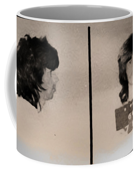 Keith Richards Mugshot - Keith Don't Go Coffee Mug featuring the photograph Keith Richards Mugshot - Keith Don't Go by Bill Cannon