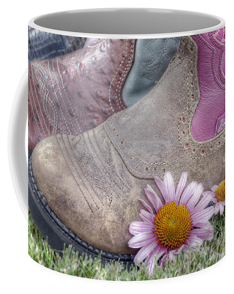 Clothing Coffee Mug featuring the photograph Megaboots by Joan Carroll