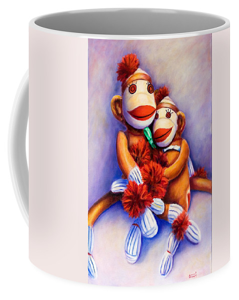 Children Coffee Mug featuring the painting Mother And Child by Shannon Grissom