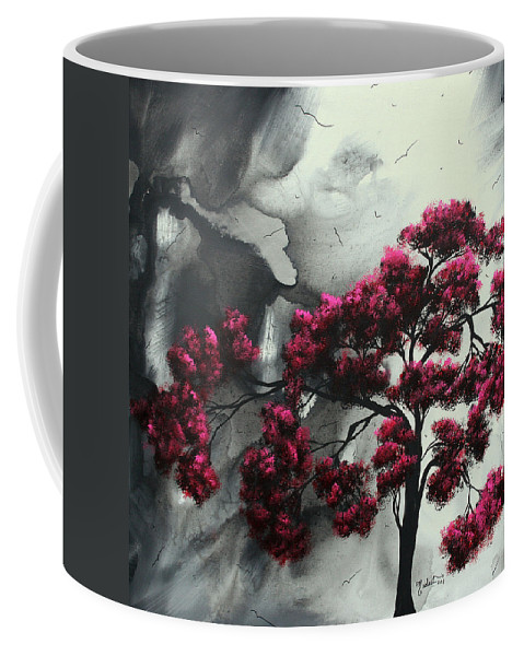 Abstract Coffee Mug featuring the painting Pink Passion Original Painting Madart by Megan Duncanson