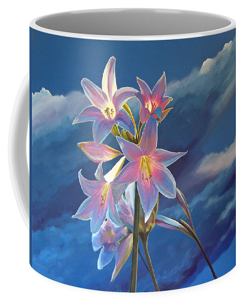 Botanical Coffee Mug featuring the painting Spellbound by Hunter Jay
